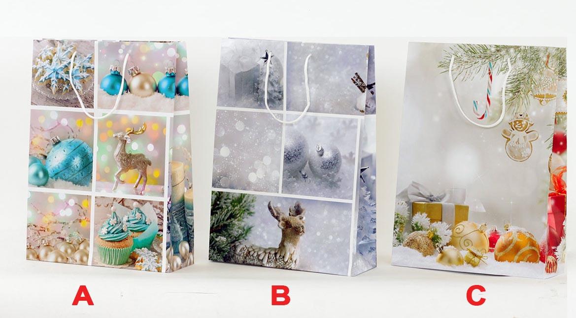 Artium Papírová taška XL   vánoční motiv ozdoby Provedení: A