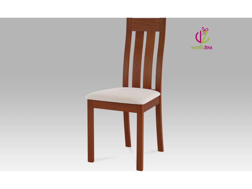 Jídelní židle dřevěná 45x41x96x48cm Barva: třešeň