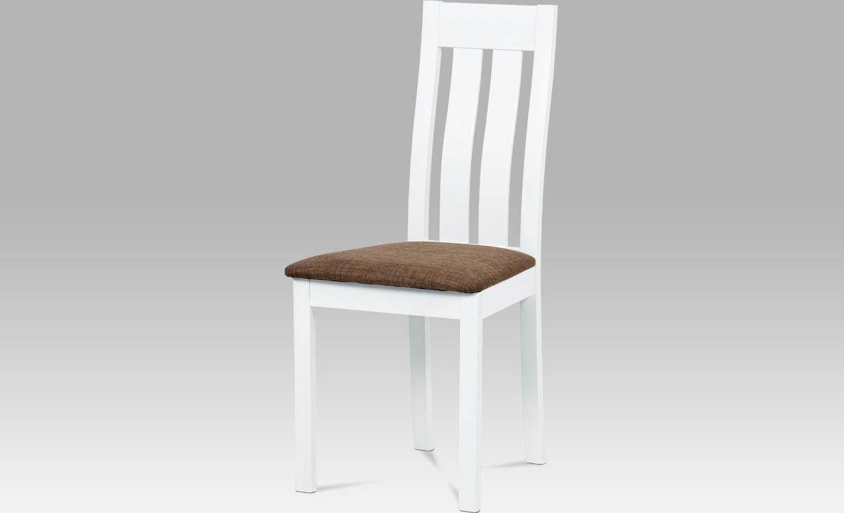 Jídelní židle dřevěná bílá 45x41x96x48cm