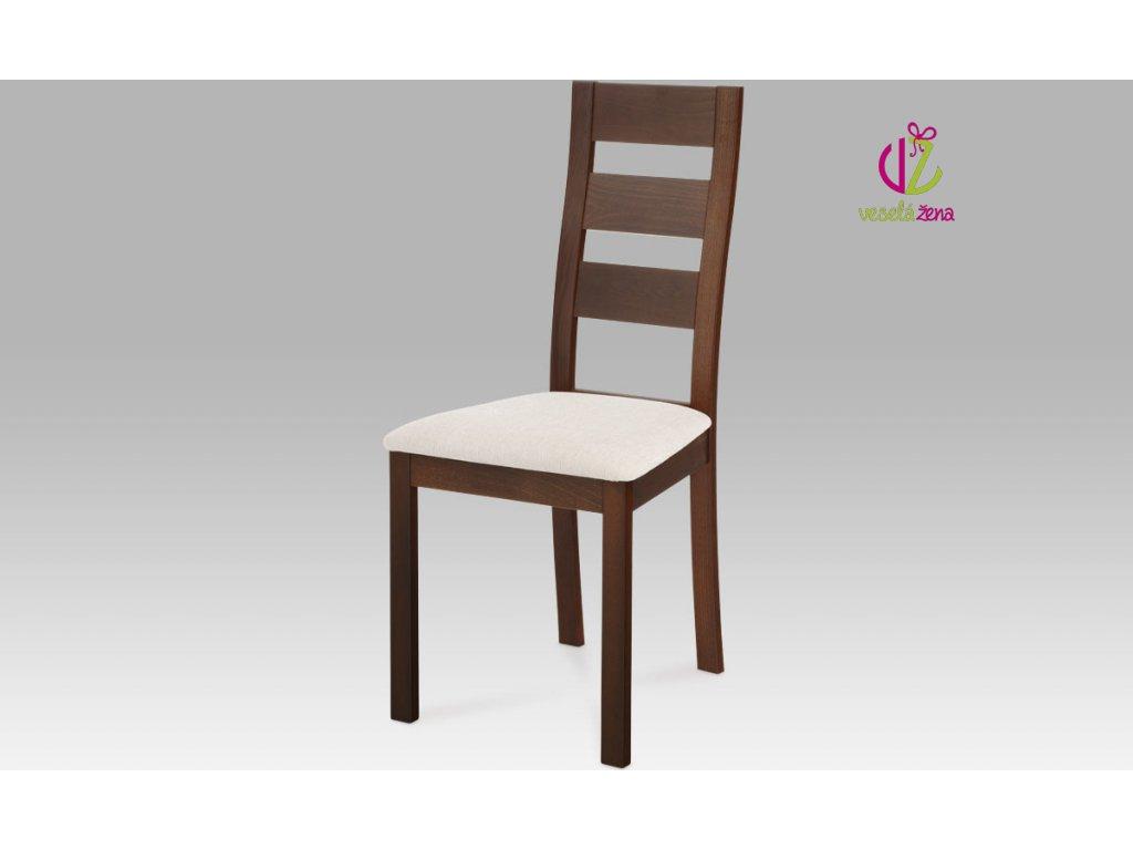 Jídelní židle masiv 45x41x96x48cm Barva: ořech
