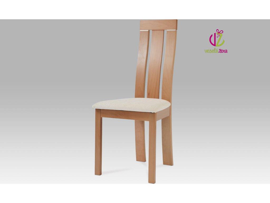 Jídelní židle dřevěná 45x43x101x47cm Barva: buk