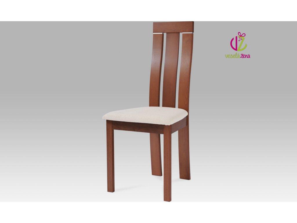 Jídelní židle dřevěná 45x43x101x47cm Barva: třešeň