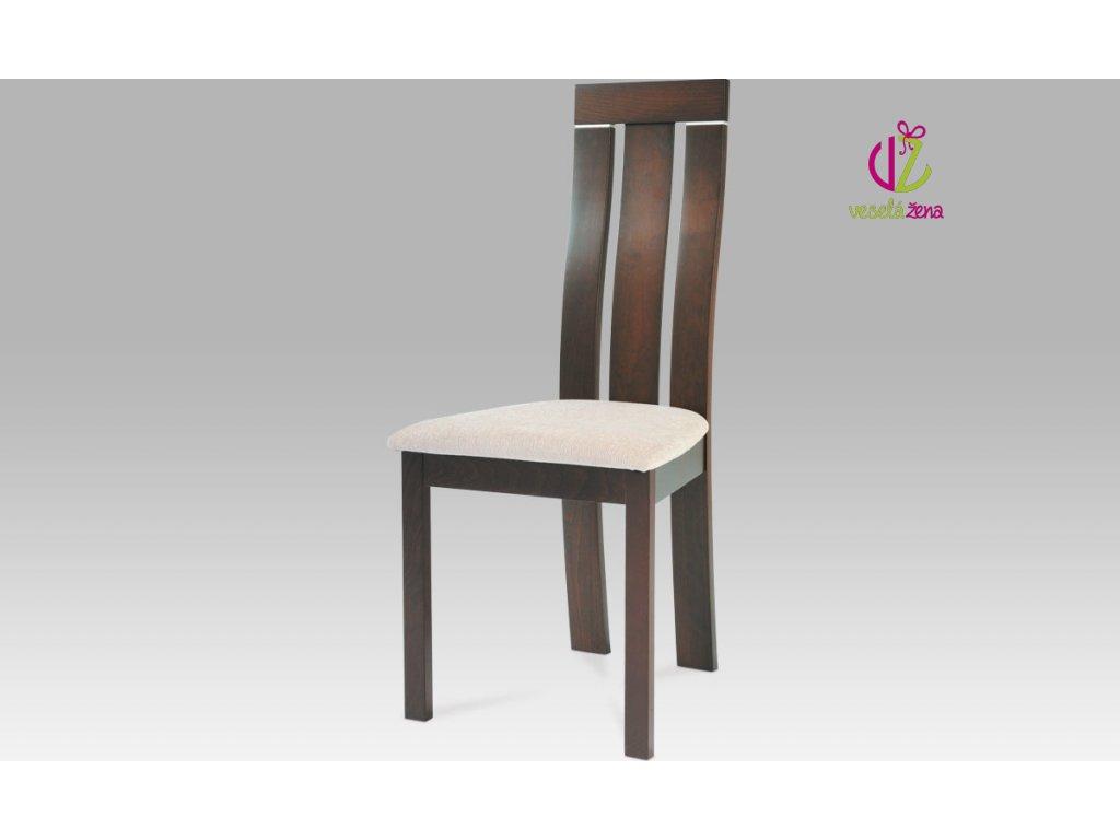 Jídelní židle dřevěná 45x43x101x47cm Barva: ořech