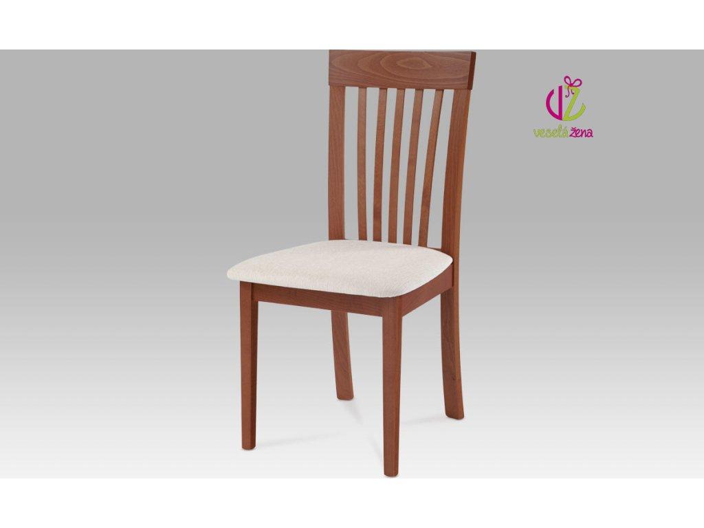 Jídelní židle dřevěná 48x43x95x47cm Barva: třešeň