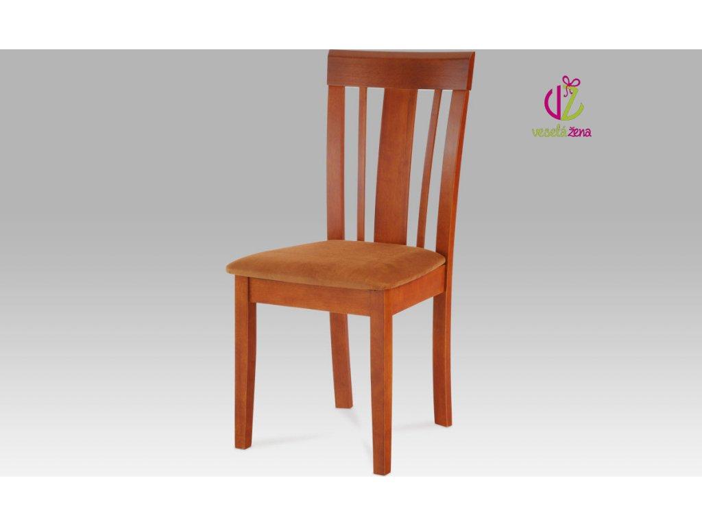 Artium Jídelní židle bez sedáku dřevěná 46x41x96x46cm Barva: oranžová
