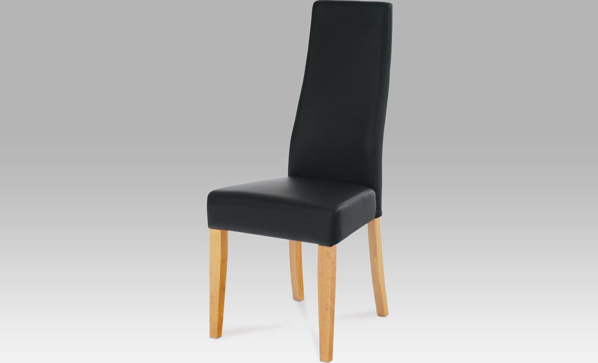Jídelní židle koženková 46x42x106x48cm Barva: dub