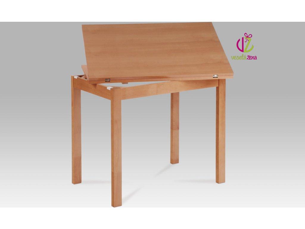 Jídelní stůl dřevěný rozkládací 120x90cm Barva: buk