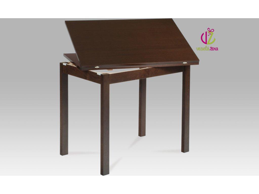 Jídelní stůl dřevěný rozkládací 120x90cm Barva: ořech