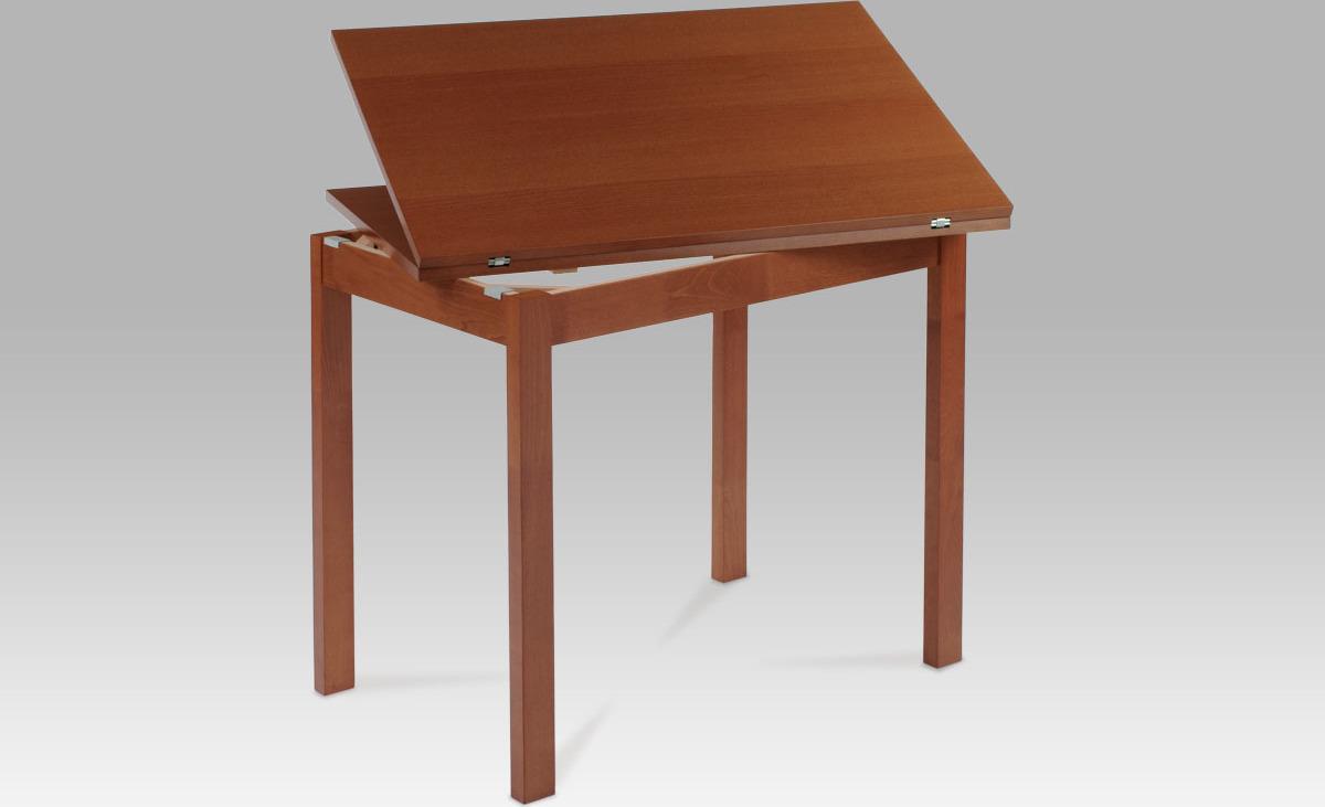 Jídelní stůl dřevěný rozkládací 120x90cm Barva: třešeň