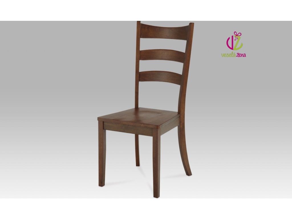 Artium Jídelní židle dřevěná 45x43x103x46cm Barva: ořech