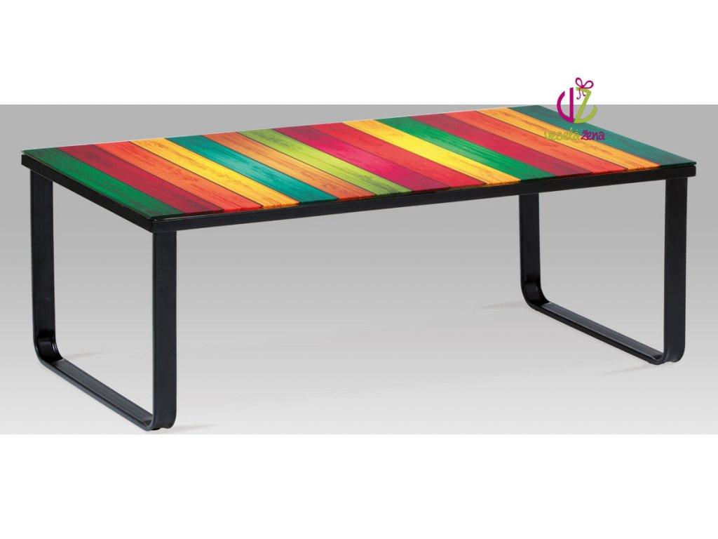 Konferenční stolek skleněný s potiskem Provedení: D