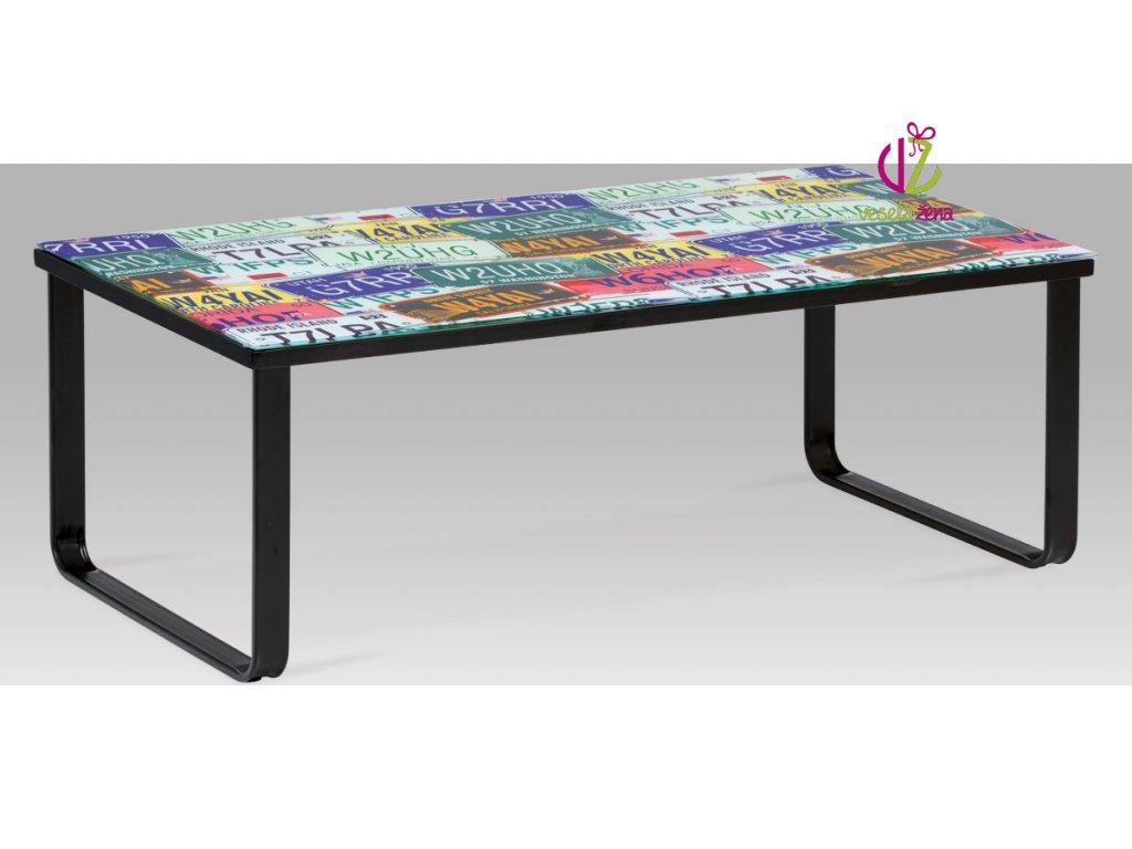 Konferenční stolek skleněný s potiskem Provedení: E