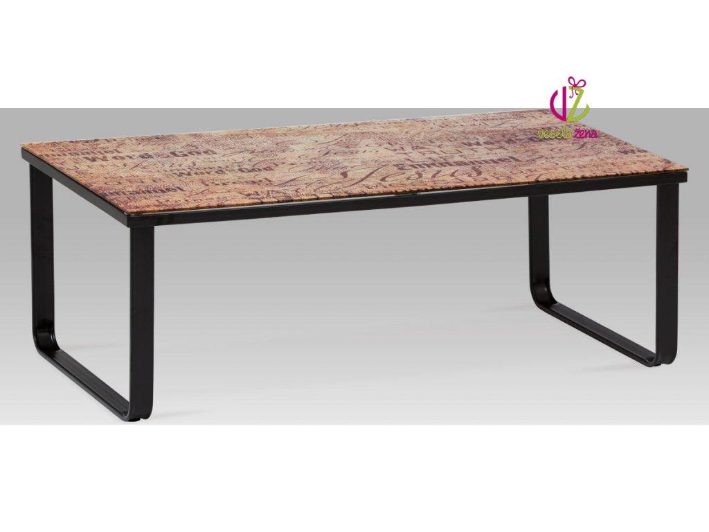 Konferenční stolek skleněný s potiskem Provedení: F