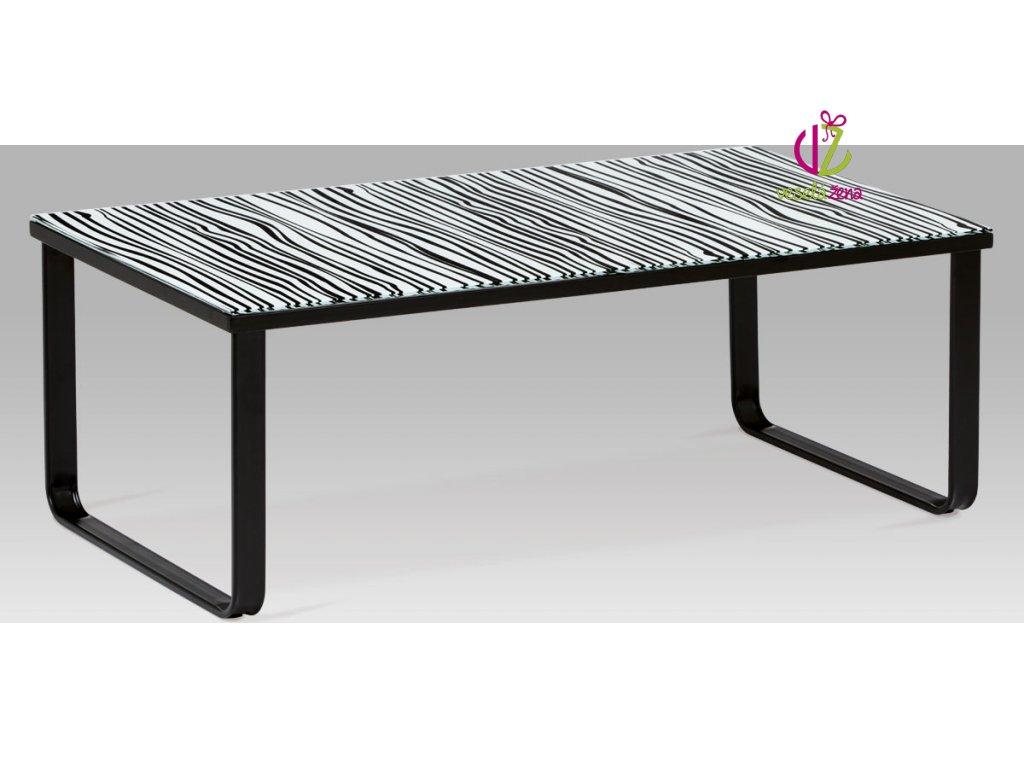 Konferenční stolek skleněný s potiskem Provedení: G