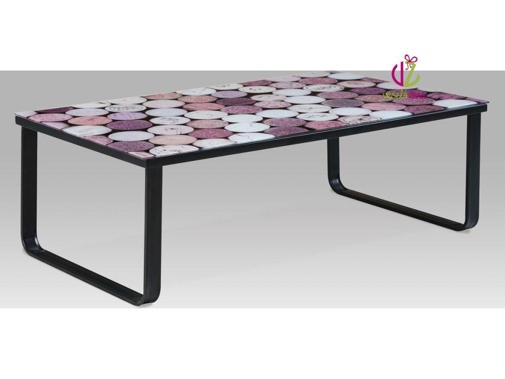 Konferenční stolek skleněný s potiskem Provedení: B