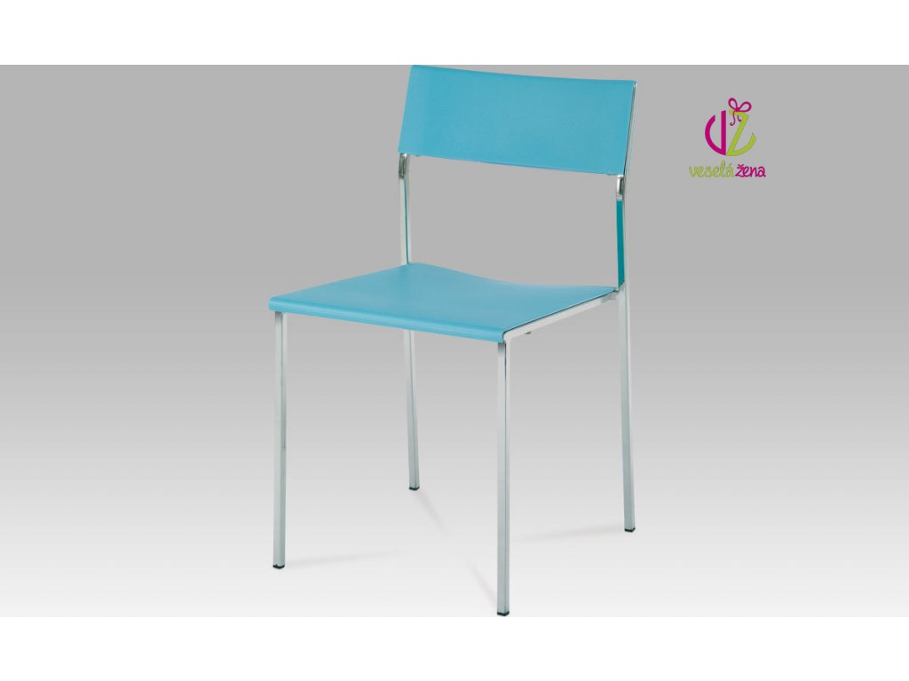 Židle plastová 42x44x79x46cm Barva: modrá