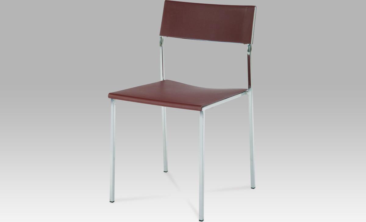 Židle plastová 42x44x79x46cm Barva: hnědá