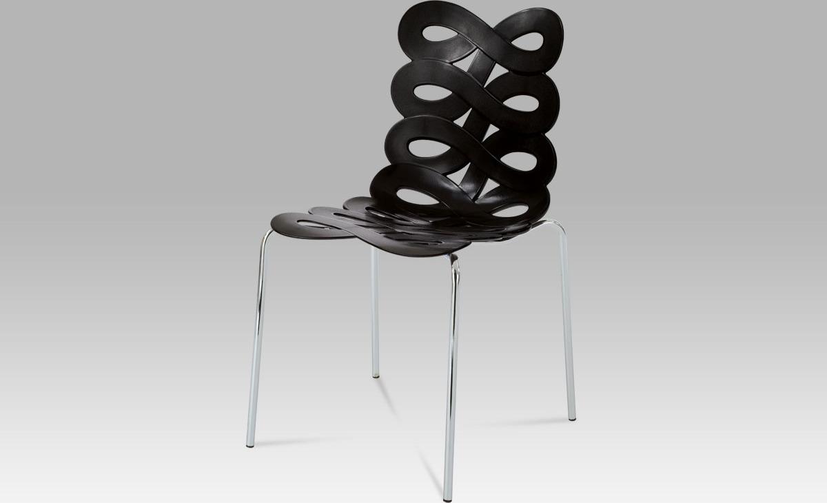 Jídelní židle | plast Barva: černá