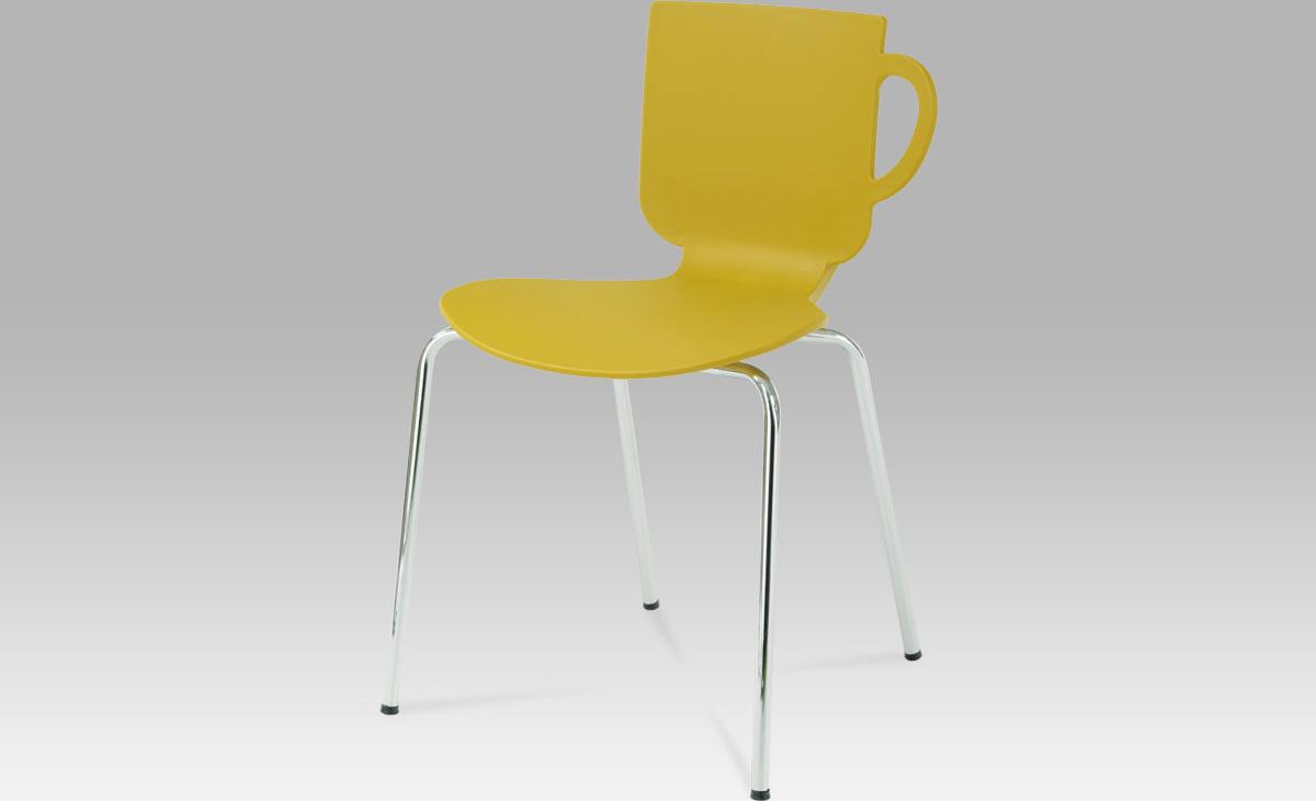 Jídelní židle plastová 50x40x78x48cm
