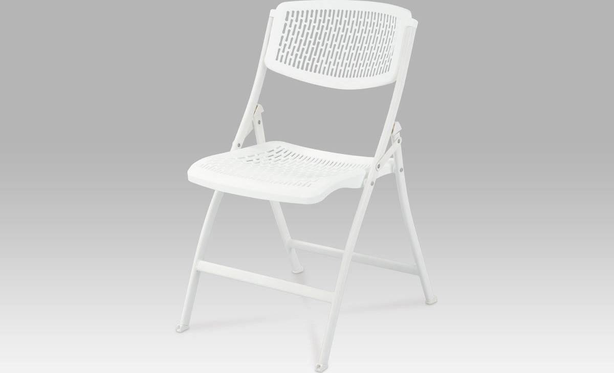 Artium Sklápěcí židle bílá 44x40x83x47cm