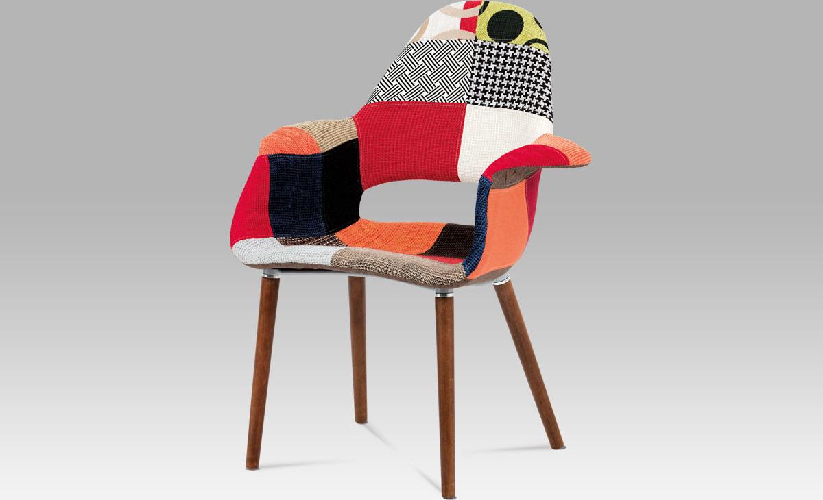 Jídelní židle patchwork   ořech
