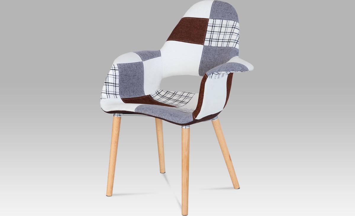 Jídelní židle patchwork   natural