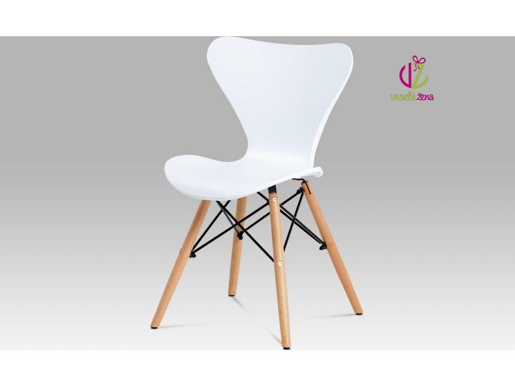 Artium Jídelní židle plastová 46x39x82x47cm Barva: bílá