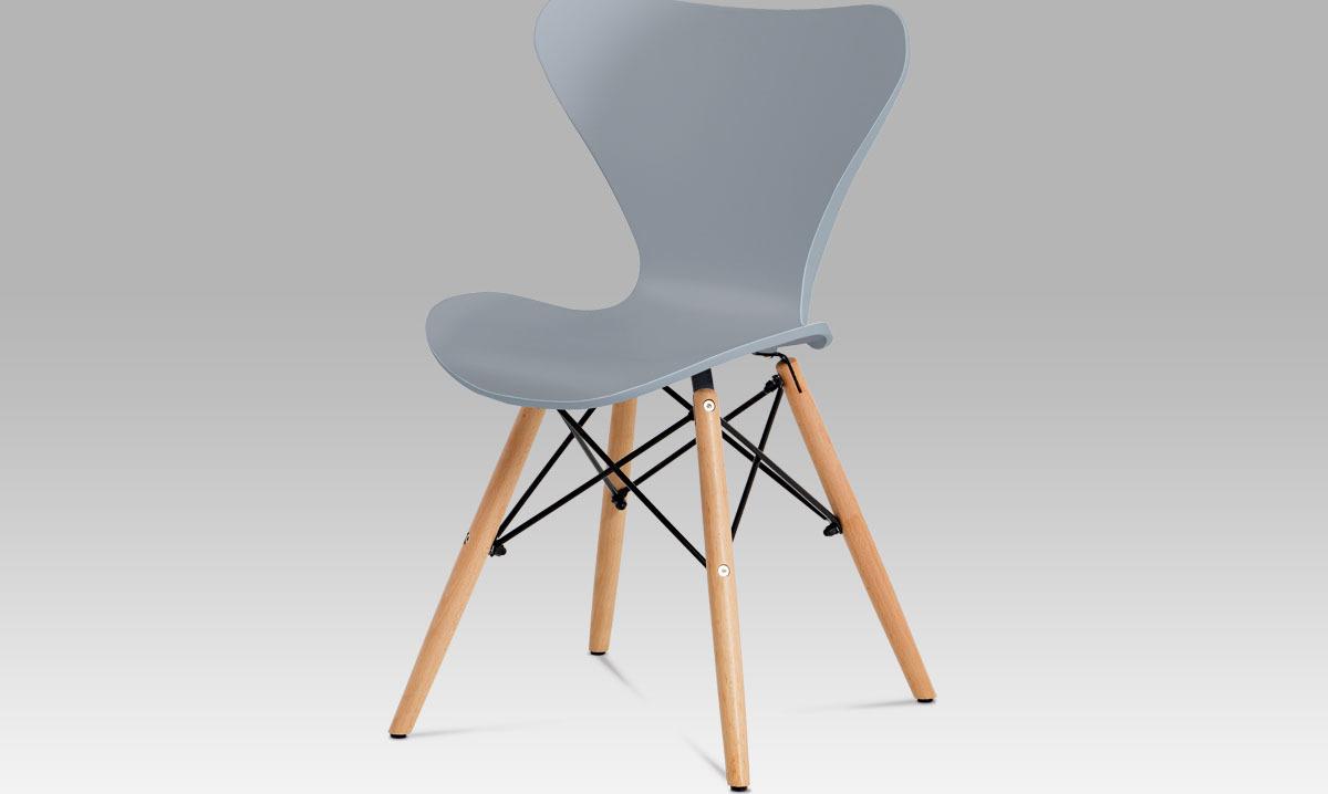 Artium Jídelní židle plastová 46x39x82x47cm Barva: šedá
