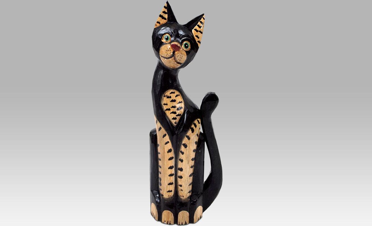 Kočka dřevěná Velikost: menší