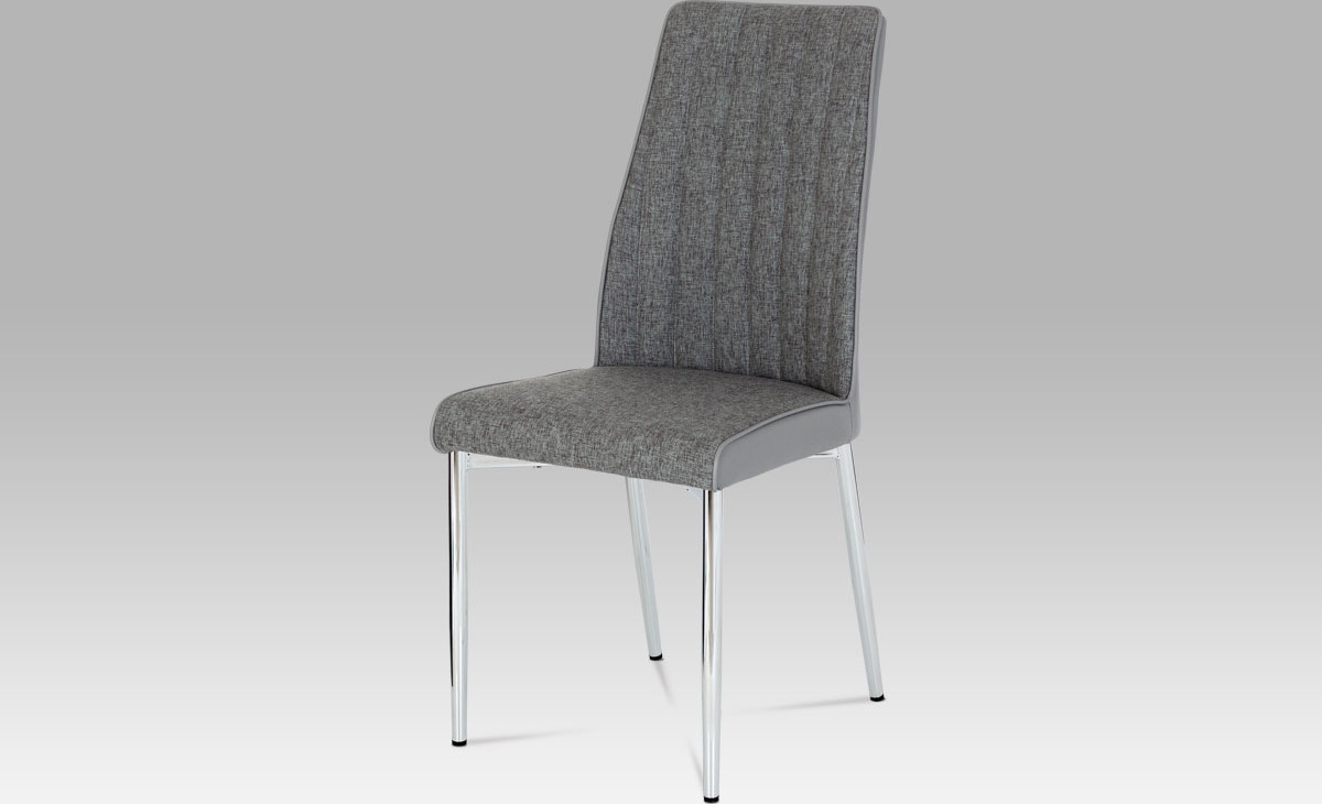 Artium Jídelní židle| látka a koženka | chrom Barva: šedá