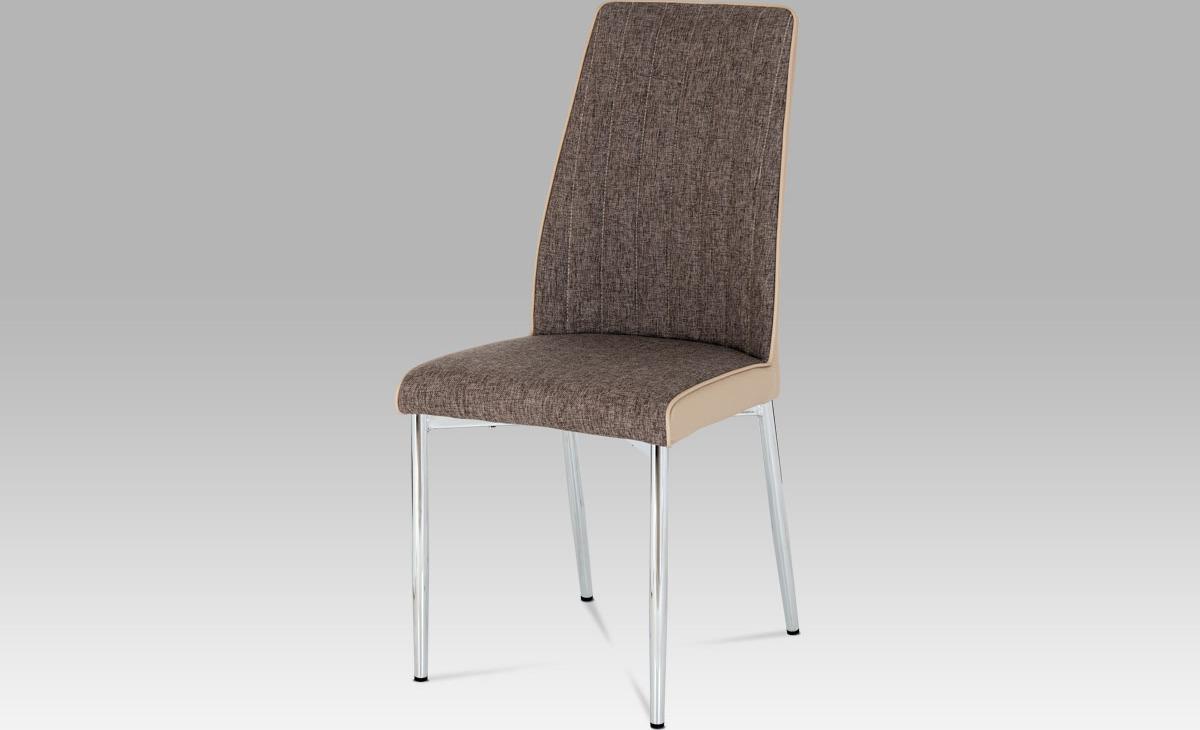 Artium Jídelní židle| látka a koženka | chrom Barva: cappuccino