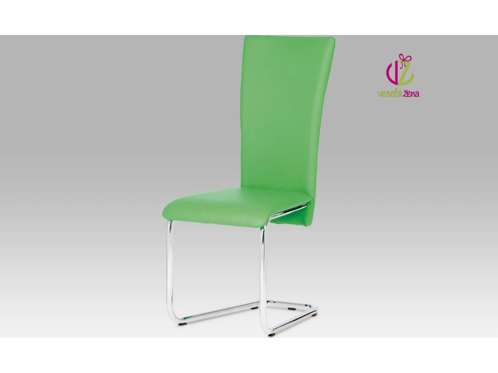 Artium Jídelní židle koženková 44x42x102x47cm Barva: zelená