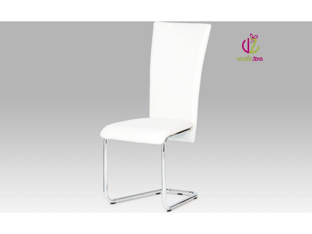 Artium Jídelní židle koženková 44x42x102x47cm Barva: bílá