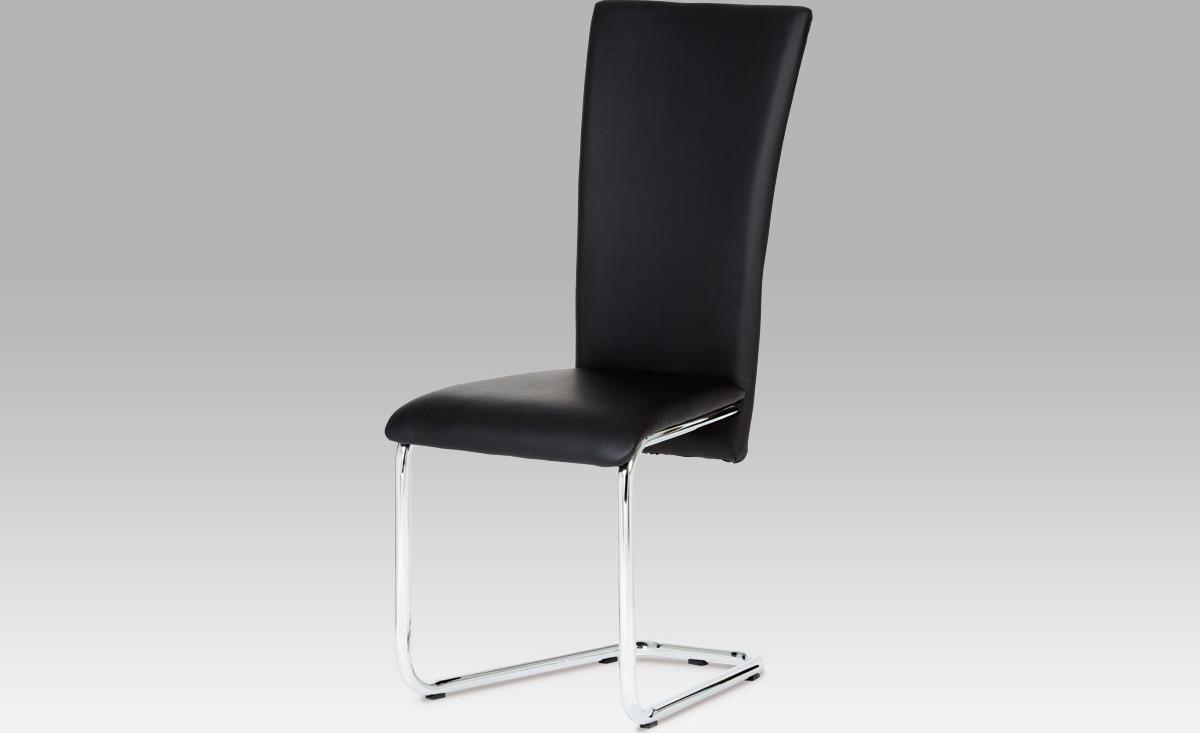 Artium Jídelní židle koženková 44x42x102x47cm Barva: černá