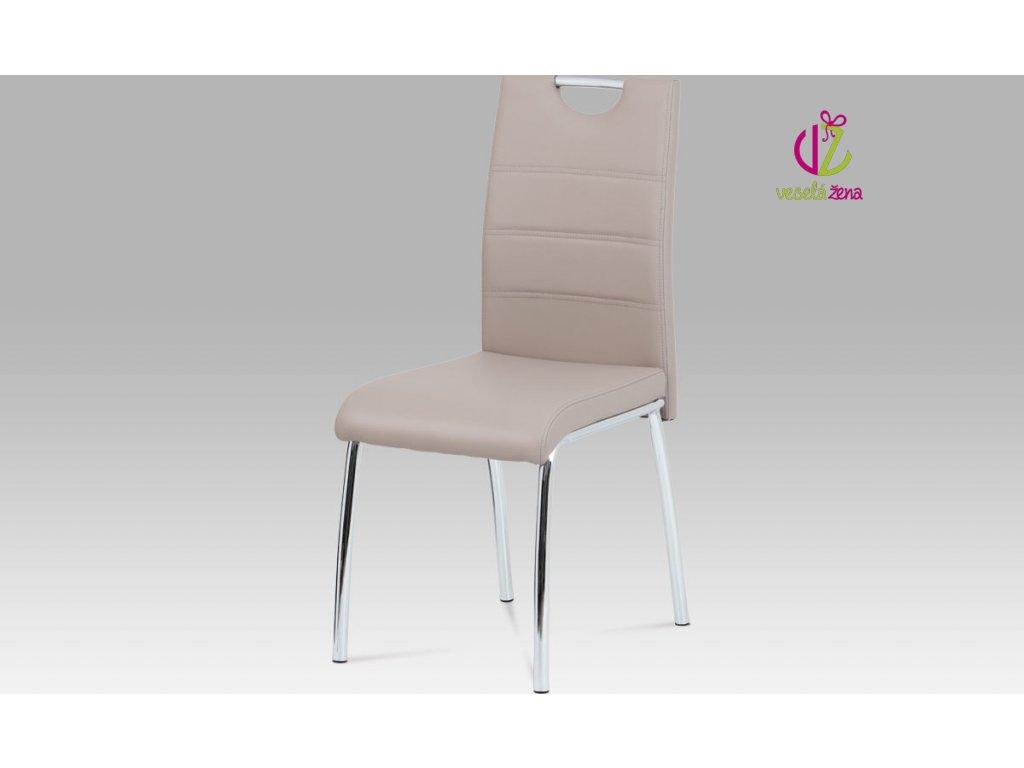 Jídelní židle koženková 43x46x96x48cm Barva: lanýžová