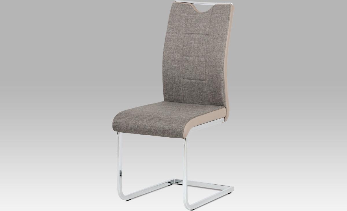 Jídelní židle chrom | látka | koženka Barva: lanýžová