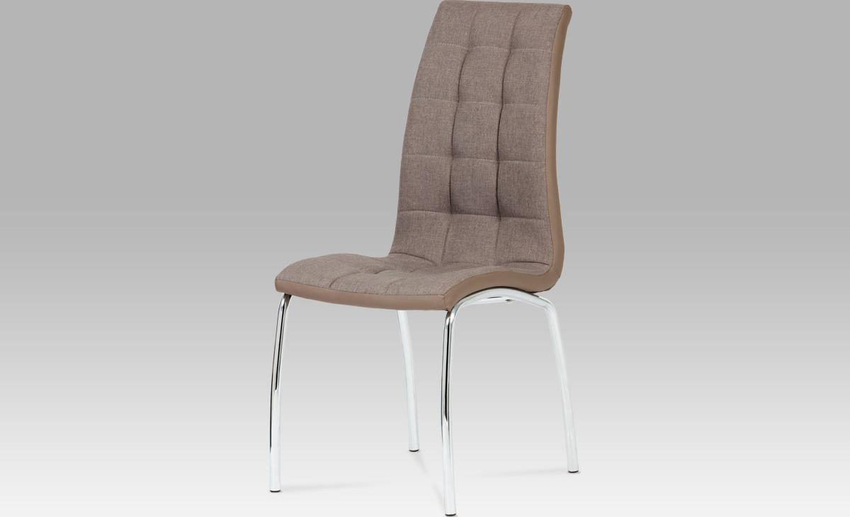 Artium Jídelní židle | látka a koženka | chrom Barva: hnědá