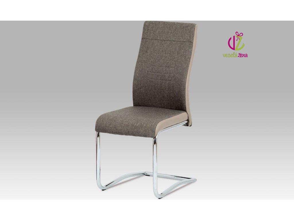Jídelní židle čalouněná 44x42x99x46cm Barva: lanýžová