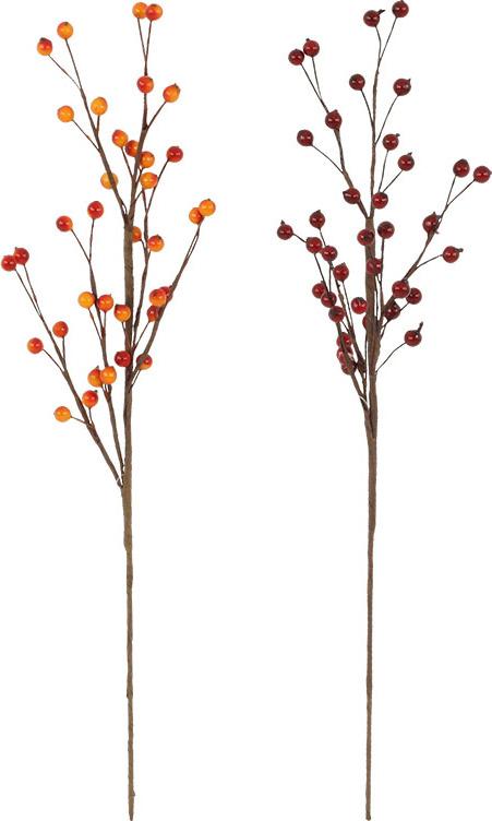 Dekorační podzimní větev 45cm Provedení: A - světlejší varianta