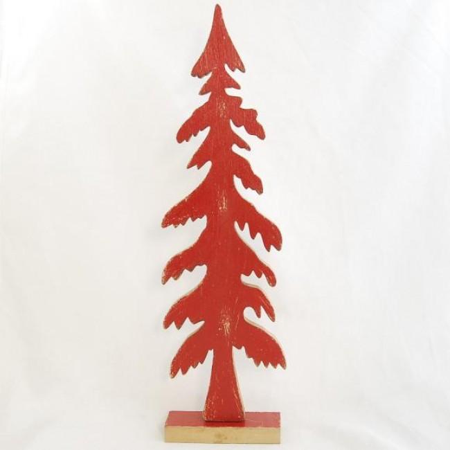 vánoční stromeček | dřevěný | červený Velikost: velký