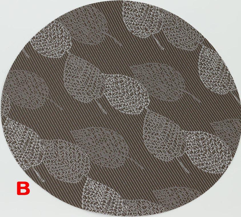 Plastové prostírání kulaté - lístky Provedení: B