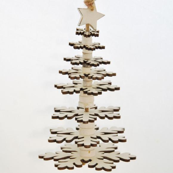 ID vánoční stromeček | dřevěný | bílý Velikost: malý