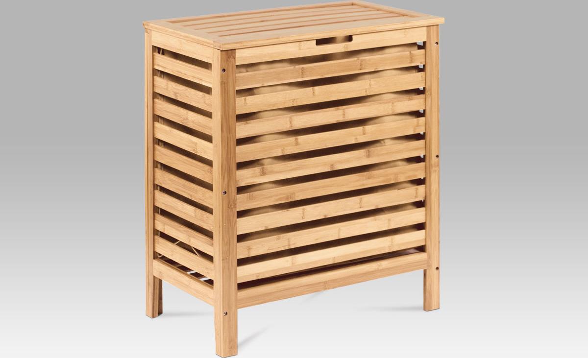 Koš na prádlo lakovaný bambus