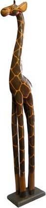 Dřevořezba vysoká žirafa 100cm