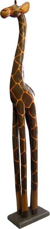 Dřevořezba Žirafa vysoká 80cm