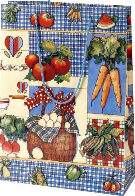 Dárková papírová taška zelenina Velikost: malá