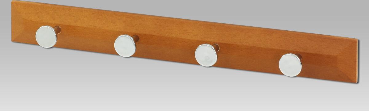 Věšák dřevěný 4x háček