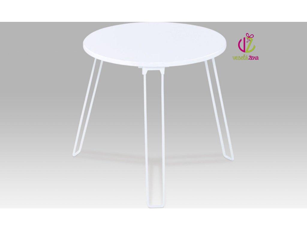 Odkládací stolek | kovová konstrukce Barva: bílá