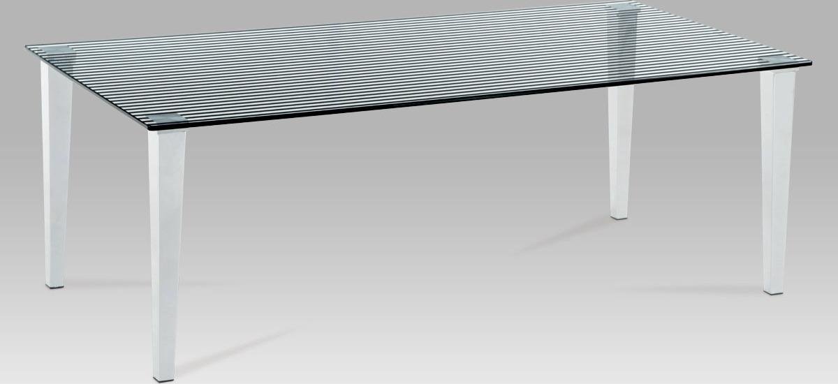 Konferenční stolek skleněný 120x60x41cm