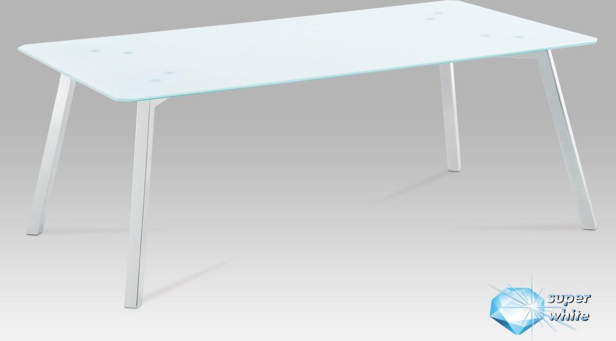Konferenční stolek skleněný 120x65x45cm